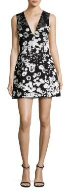 Alice + Olivia Patty Floral-Print Satin Lantern Dress $395 thestylecure.com