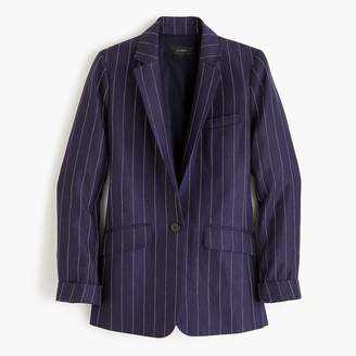 J.Crew Tall boy blazer in pinstriped linen