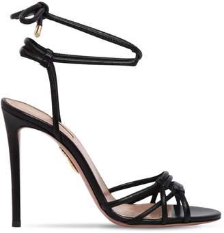 Aquazzura 105mm Laura Tubular Leather Sandals