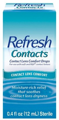 Refresh Contacts® Contact Lens Moisture Drops for Dry Eyes - 0.4 oz $6.99 thestylecure.com