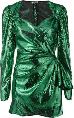 ATTICO sequinned cocktail mini dress