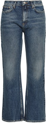 Anine Bing Faded High-rise Bootcut Jeans