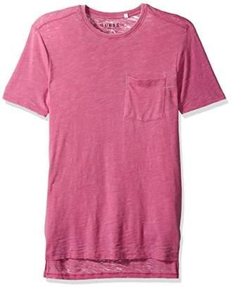 GUESS Men's Myer Slub Burnout T-Shirt