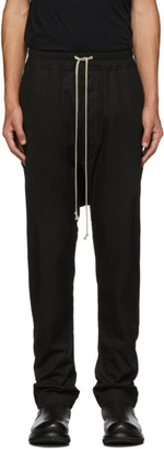 Rick Owens Black Long Drawstring Trousers