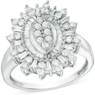 Zales 1 CT. T.W. Composite Diamond Starburst Ring in 10K White Gold
