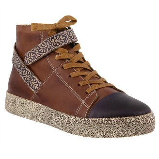 Spring Step L'Artiste by Leather Sneakers - Ahitop