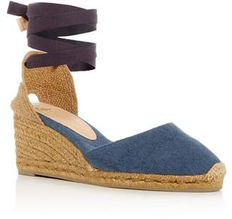 Castaner Women's Carina Ankle Tie Espadrille Wedge Sandals