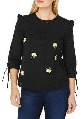 Dorothy Perkins Embroidered Frill Blouse