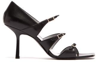 The Row Leather Sandals - Womens - Black
