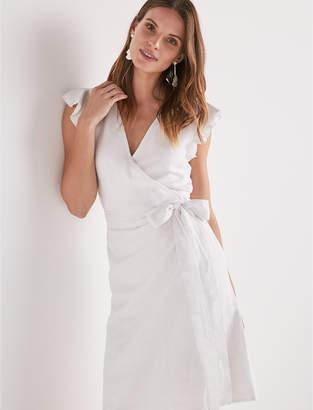 Lucky Brand Wrap Ruffle Dress
