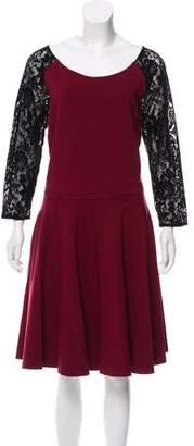ALICE by Temperley Paneled Long Sleeve Dress