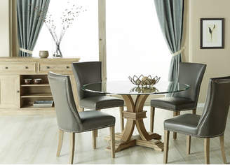 Lark Manor Parfondeval 54 Round Glass Dining Table