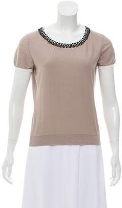 Paule Ka Short Sleeve Knit Top