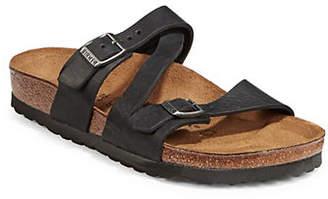 Birkenstock Womens Footbed Leather Sandals
