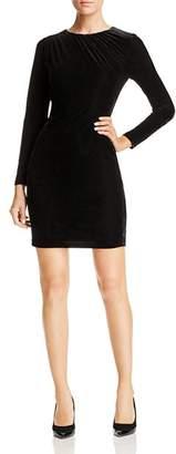 T Tahari Shirred Velvet Dress