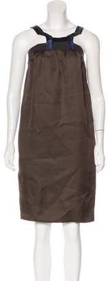 Lanvin Silk Colorblock Dress