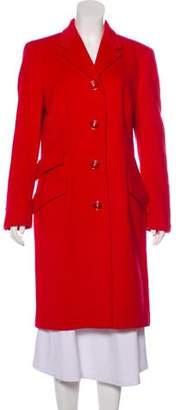 Versace Button-Up Long Coat