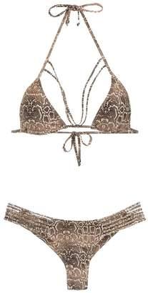 Amir Slama printed triangle top bikini set