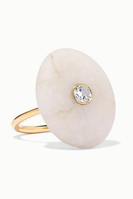 Cvc Stones 18-karat Gold, Stone And Diamond Ring - 5