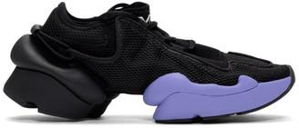 Y-3 Black and Purple Ren Sneakers
