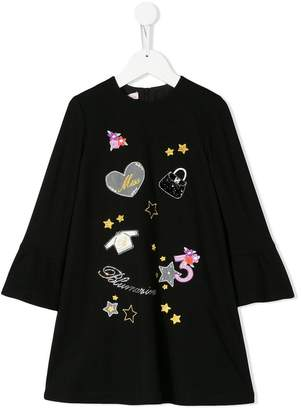 Miss Blumarine embroidered dress
