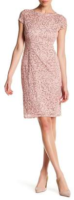 Marina Cap Sleeve Lace Sequin Midi Dress $129 thestylecure.com