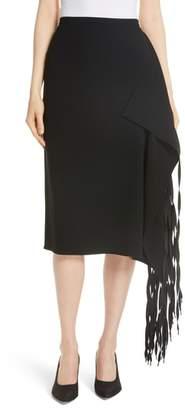 Tibi Shoelace Fringe Skirt