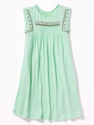 Old Navy Sleeveless Puff-Print Swing Dress for Girls