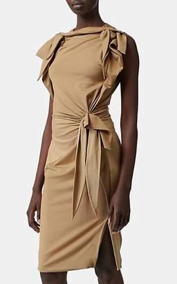 Burberry Women's Colorblocked Draped Jersey Sheath Dress - Beige, Tan