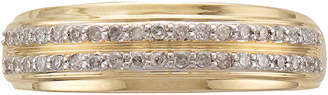 JCPenney MODERN BRIDE Mens 1/3 CT. T.W. Diamond 14K Yellow Gold Wedding Band