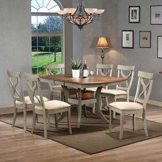 Baxton Studio Wholesale Interiors Balmoral 7 Piece Dining Set