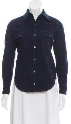 Calvin Klein Jeans Denim Button-Up Top