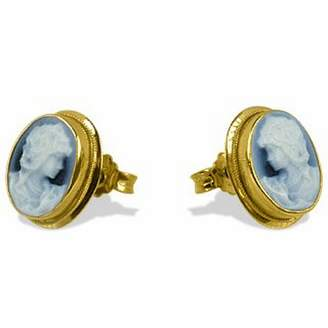 Del Gatto Agate Stone Cameo Earrings