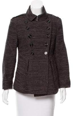 Burberry Pleated Double-Breasted Jacket
