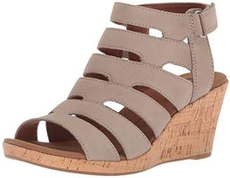 Rockport Women's Briah Banded Sling Wedge Sandal