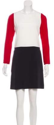 Joseph Long Sleeve Mini Dress White Long Sleeve Mini Dress