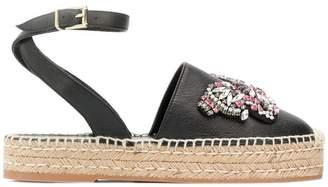 Twin-Set butterfly embellished espadrille sandals