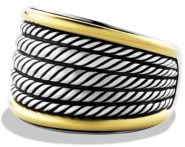 David Yurman Wheaton Band Ring with Gold