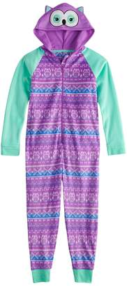 So Girls 4-14 & Plus Size SO Fleece Hooded Footless Pajamas