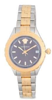Versace Polished Bicolor Bracelet Watch