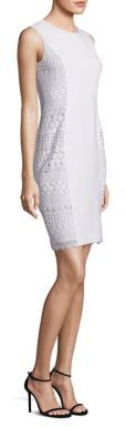 Elie Tahari Dora Sleeveless Lace Sheath Dress $448 thestylecure.com