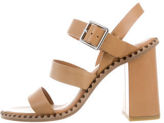 Marc by Marc Jacobs Leather Multistrap Sandals w/ Tags $125 thestylecure.com