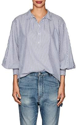 Nili Lotan Women's Claira Striped Cotton Poplin Shirt
