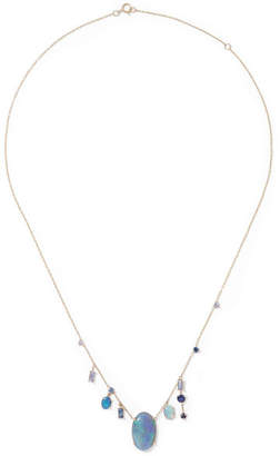 WWAKE Gold, Sapphire And Opal Necklace - one size