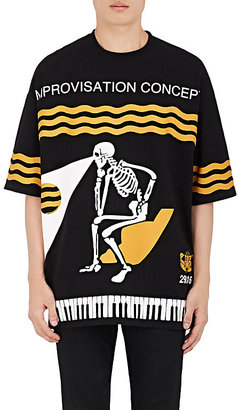 Undercover Men's Mixed-Print Cotton Oversized T-Shirt $395 thestylecure.com
