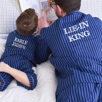 TheLittleBoysRoom Personalised Traditional Button Pyjamas