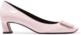 Roger Vivier Trompette Patent-leather Pumps - Pastel pink