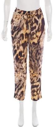 Yigal Azrouel Silk Mid-Rise Straight-Leg Pants