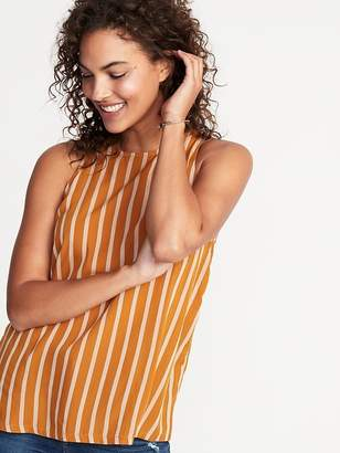Old Navy Sleeveless Striped High-Neck Top for Women