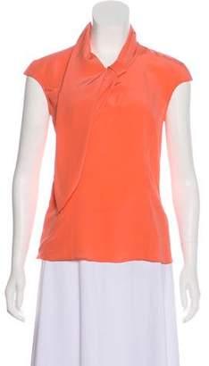 Magaschoni Silk Short Sleeve Top